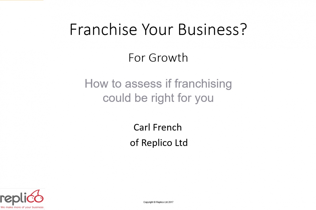 Franchise Your Business 1